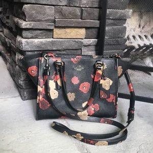 Coach Black Floral Crossbody Bag